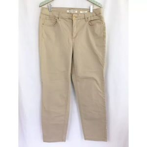 Jones New York Jeans Soho Ankle Khaki Pant 33x27